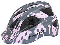 Подростковый шлем Green Cycle SPACE INVADER размер М (54-58 см) ТМ Green Cycle Серо-розовый HEL-61-15