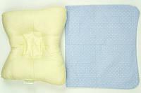 Подушка детская с наполнителем бамбук для новорожденных 4- 24 месяцев + наволочка (100% хлопок) ТМ Руно 308Б