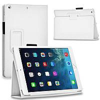 Кожаный чехол-книжка TTX с функцией подставки для Apple iPad Air (Белый)