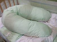 Подушка для беременных и кормления ребенка Панда 175 см (хлопок, бамбуковое волокно)ТМ Руно 969БВУ зеленая