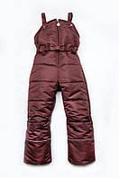 Полукомбинезон зимний для девочки 2-8 лет, р. 92-122 ТМ Модный карапуз 03-00462-0 Бордовый