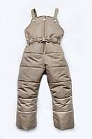 Полукомбинезон зимний для девочки 2-8 лет, р. 92-122 ТМ Модный карапуз Мокко 03-00462-5