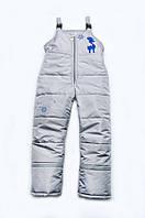 Полукомбинезон зимний для мальчика 4-8 лет, р. 110-128 ( детские зимние штаны)ТМ Модный карапуз 03-00590-0