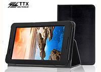 Кожаный чехол-книжка TTX с функцией подставки для Lenovo Tab 2 A7-30 (Черный)