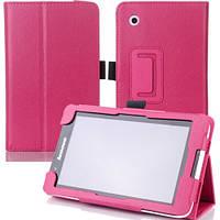 Кожаный чехол-книжка TTX с функцией подставки для Lenovo Tab 2 A7-30 (Малиновый)