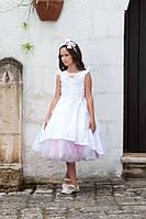 Праздничное платье, болеро и ободок для девочки 8 лет, р. 128 ТМ Les Gamins 3175 Tiffany