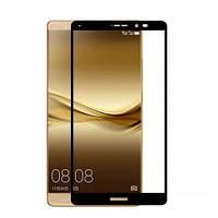 Закаленное защитное 3D стекло (на весь экран) для Huawei Mate 8 (Черное)