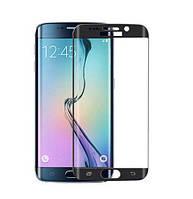 Закаленное защитное 3D стекло (на весь экран) для Samsung G925F Galaxy S6 Edge Plus (Черное)