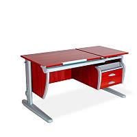 Растущая парта с раздельной поднимающейся столешницей 120х55 см Письмен. стол ТМ Дэми СУТ.17.04 яблоня локарно