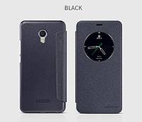 Кожаный чехол-книжка Nillkin Sparkle для Meizu M3e черный