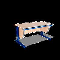 Растущая эргономическая парта 120 см с регулируемой наклонной столешницей СУТ.15 (клен танзай/синий). ТМ Дэми