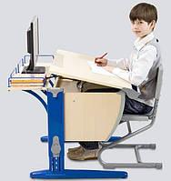 Растущая эргономическая парта для школьника 75х55 см СУТ.14 ТМ Дэми клен/синий