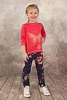 Реглан для девочки 3-8 лет, размер 98-128, Модный карапуз (коралл) 03-00573-0