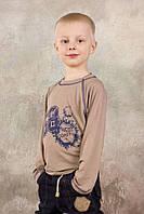 Реглан для мальчика 3-8 лет из вискозы (бежевый), р. 98-128 ТМ Модный карапуз 03-00574-0