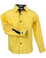 Рубашка Frantolino с длинным рукавом с отделкой для мальчика р. 152 Желтый 1115-133