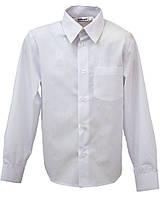 Рубашка Standard р. 152  с длинным рукавом для мальчика 12 лет Белый Bebepa