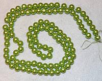 Бусина пластиковая 1003  Светло-салатовый   8 мм,  нить 105-110 бусин