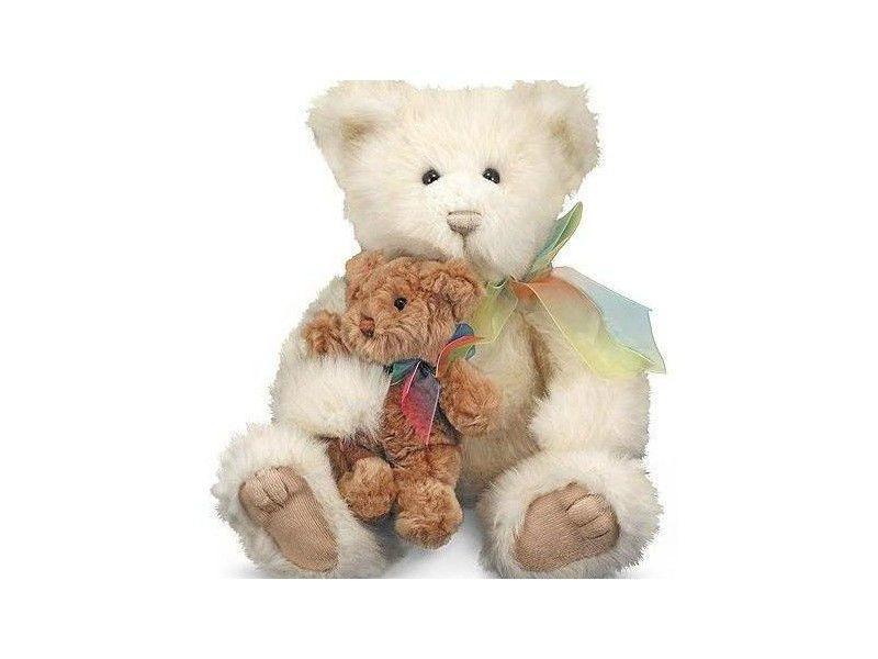 Сімейство ведмедиків (мама з ведмежам Пуфом) Melіssa & Doug (м'яка іграшка) MD7753
