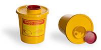 Контейнер для сбора иголок и медицинских отходов, 1 л (з РЕ)