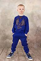 Спортивные брюки для мальчика 3-8 лет, р. 98-128 ТМ Модный карапуз (ультрамарин) 03-00571-1