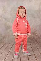 Спортивный костюм для девочки 1,5-5 лет, размер 86-104, Модный карапуз (коралл) 03-00562
