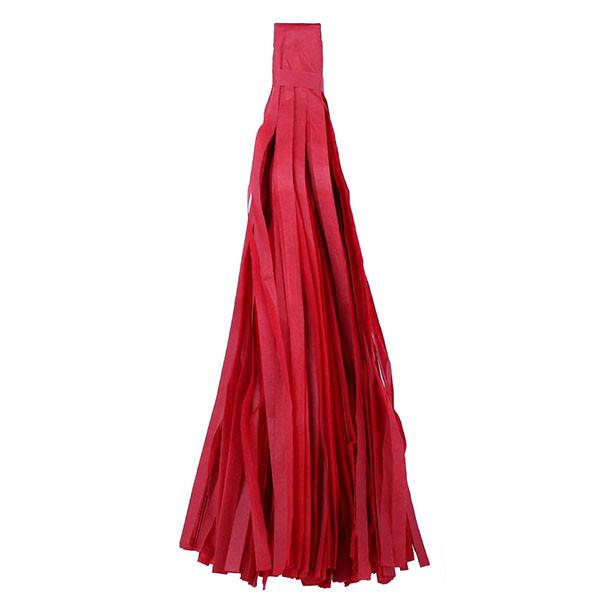 Кисть тассель червона 35 см довжина (зібрана)