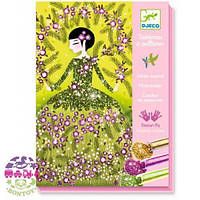 Художественный комплект рисование блестками Блестящие наряды ТМ DJECO DJ09500