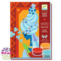 Художественный комплект рисование цветным песком Голубые принцессы ТМ DJECO DJ08637