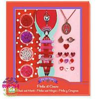 Художественный ювелирный набор Сердце и жемчуг (набор для детского творчества) ТМ DJECO DJ09803