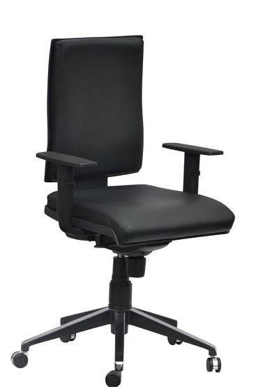 Кресло Спейс Алюм HB Неаполь-20 чёрный/боковины Неаполь-20 чёрный