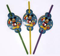 """Коктейльные трубочки с гофрой """" Мики Маус """" , 8 шт."""