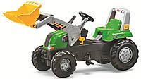Трактор педальный с ковшом Rolly Toys Junior RT зеленый