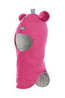 """Шлем детский зимний """"Мишка"""" для девочки (шапка детская закрытая) ТМ Beezy Ягодный 1402-11"""
