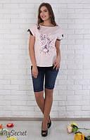 Шорты джинсовые для беременных Juli р. 44-50 ТМ Юла Мама синий SH-26.042