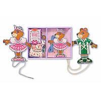 Шнуровочный медведь-одевалка (деревянная шнуровка) Melissa & Doug MD3776