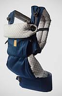 """Эргономичный рюкзак """"Around"""" Сапфир горохи для детей от 4 мес. - 2 лет ТМ """"Nashsling"""" Сапфир горохи"""