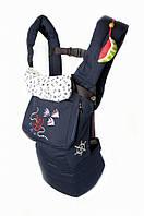 Эргономичный слинг-рюкзак Морской  Модный карапуз (темно-синий джинс) 03-00345-37