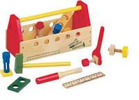 Ящик с набором инструментов. Деревянная игрушка  ТМ Bino, 82146