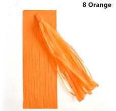 Кисть тассел оранжевая 35 см длина (собрана)