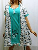 Комплект женский халатик и сорочка