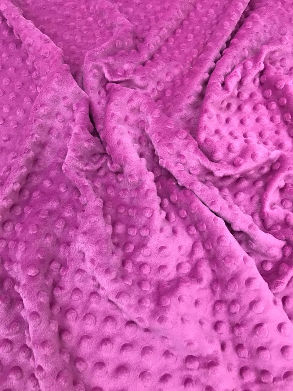 Плюшевая ткань Minky темно-сиреневый (плот. 350 г/м.кв)