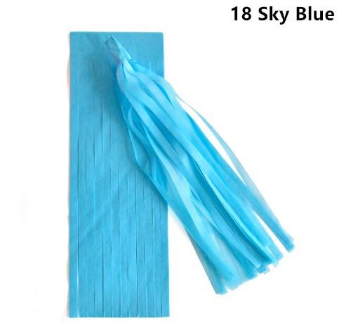 Кисть тассел ярко голубой 35 см длина (собрана)