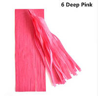 Кисть тассел  ярко розовая 35 см длина (собрана)