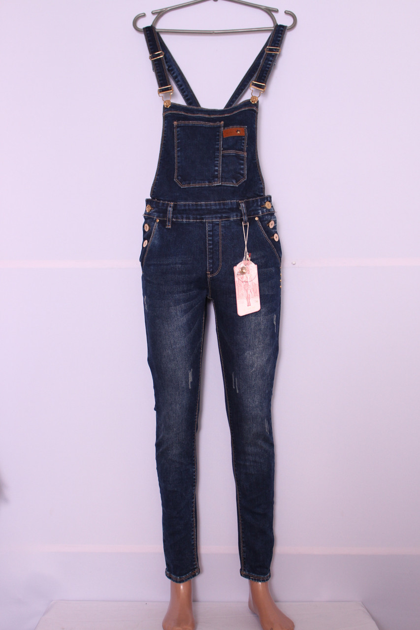Модный женский джинсовый комбинезон M.Sara (код 3506)26-32 размер