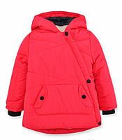 Детская зимняя куртка на девочку Моника коралл, р.92