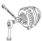Ключ для демонтажа генератора (Mercedes A class) Toptul JDCD3350, фото 2