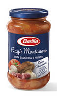 Соус натуральный томатный Barilla Ragu Montanaro с мясным фаршем и грибами, 400 гр.