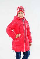 Детская зимняя куртка на девочку подростка Малина, р.128,134