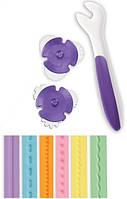 Ролик для моделирования мастики, 6 видов строчки