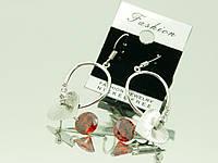 Купить модные серьги с кристаллами Сваровски оптом .331